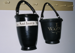 leather fire buckets